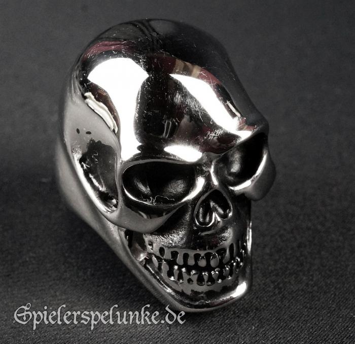 Edelstahlring Totenkopf Skull poliert
