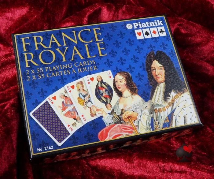 """Rommé / Bridge / Canasta Karten """"France Royal"""" Frankreich"""