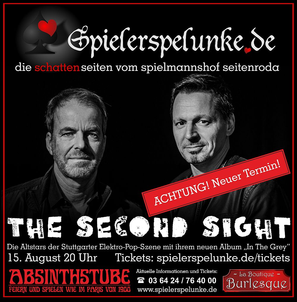 the second sight electro-pop live in der spielerspelunke