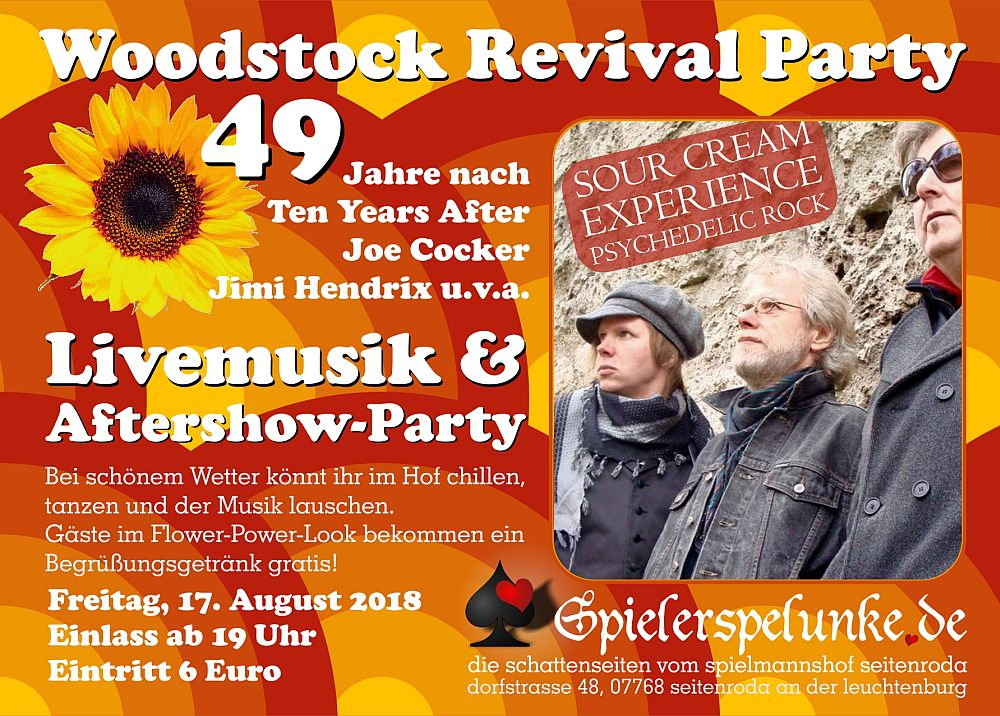 woodstock party livemusik sour cream experience