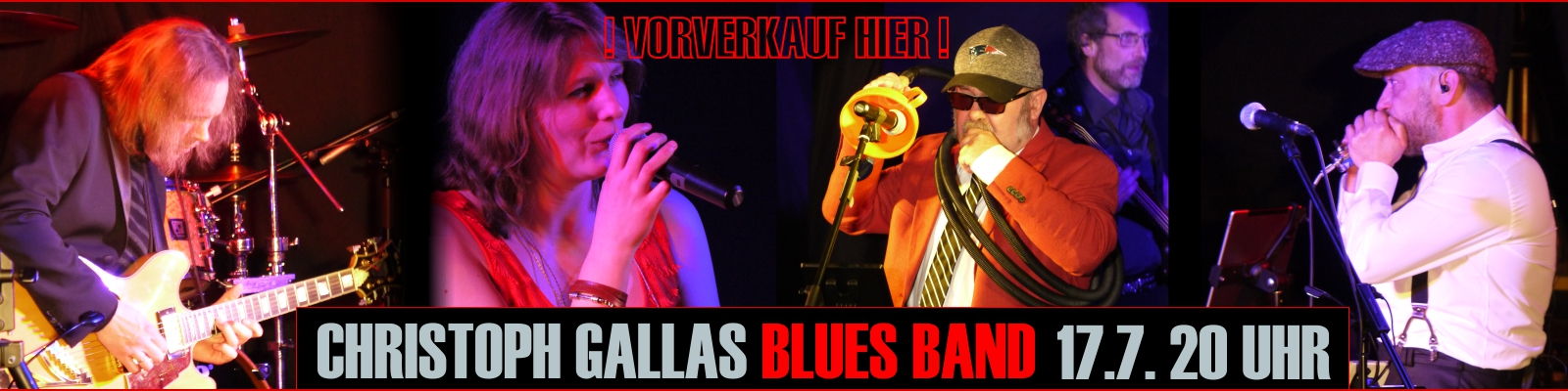 Big City Blues mit der Christoph Gallas Blues Band