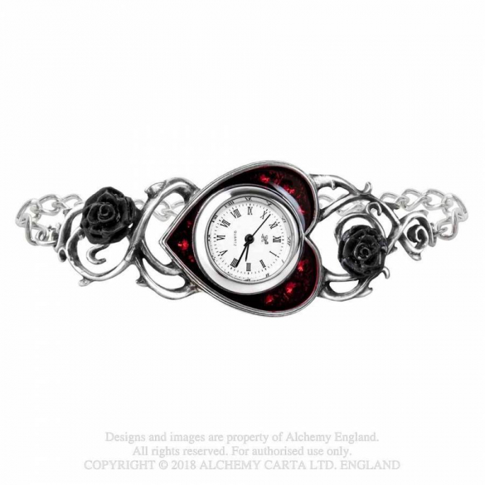 "Uhrenarmband aus Zinn ""Bed Of Blood Roses"""