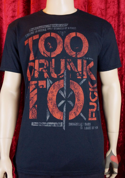 "Dead Kennedys ""Too Drunk To Fuck"" T-Shirt schwarz Merchandise"