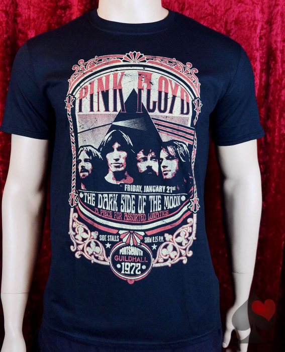 Pink Floyd At Guildhall Portsmouth1972 T-Shirt schwarz Merchandise