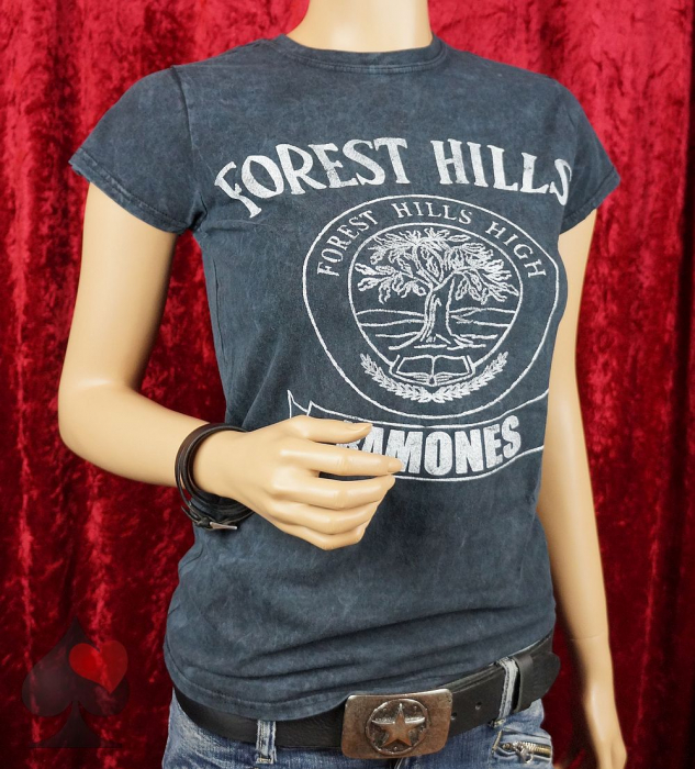 Ramones Forest Hills High Ladies T-Shirt schwarz vintage Merchandise