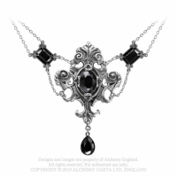 "Halskette Barock Collier ""Queen of the Night"" Gothic Schmuck"