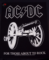 backpatch rückenaufnäher ac/dc for those about to rock