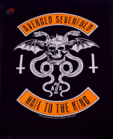 backpatch rückenaufnäher avenged sevenfold hail to the king